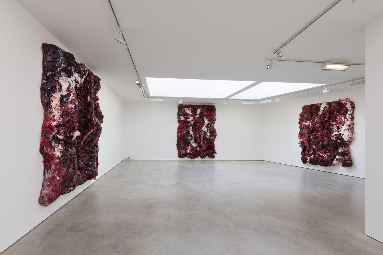 Anish Kapoor <em>Internal Objects in Three Parts</em>, 2013-2015. Silicone and pigment 3 parts: 338 x 260 x 48 cm 316 x 260 x 48 cm 293 x 218 x 40 cm © the artist; Courtesy, Lisson Gallery, London (image ref #: KAPO150002)