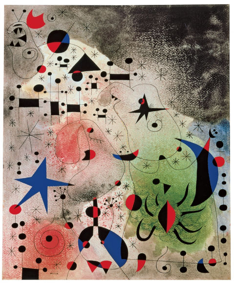 From GalleriesNow.net - Calder / Miró: Constellations @Acquavella Galleries, New York Upper East Side