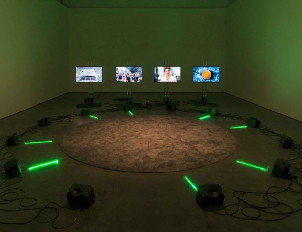 From GalleriesNow.net - Haroon Mirza: ããã – Fear of the Unknown remix @Lisson Gallery, New York 10th Av, New York