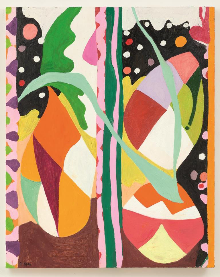 Gillian Ayres, Easy Wind and Downy Flake, 2016. Oil on canvas 152.6 x 122.4 cm. Courtesy Gillian Ayres and Alan Cristea Gallery, London
