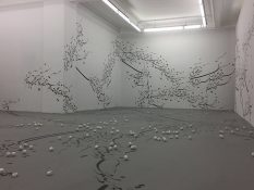 From GalleriesNow.net - Parastou Forouhar: Written Room @Pi Artworks Istanbul, Istanbul