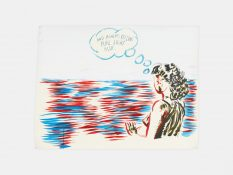 From GalleriesNow.net - Raymond Pettibon: TH' EXPLOSIYV SHOYRT T @David Zwirner 19th St, New York Chelsea