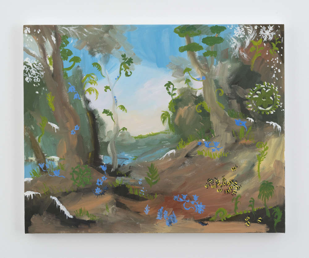 Karen Kilimnik, the jungle planet in winter, 2016. Water soluble oil color on canvas 40.5 x 51 cm / 16 x 20 inches