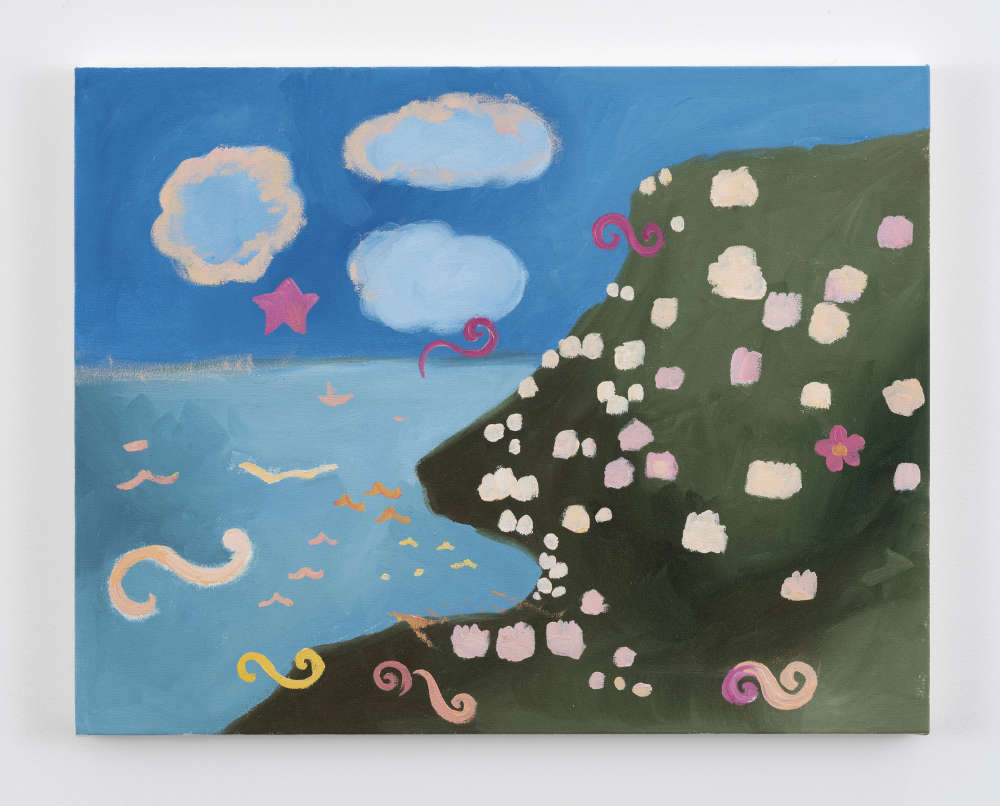 Karen Kilimnik, the pretty sea the pink + cream villas overlooking Torquay 2016, 2016. Water soluble oil color on canvas Water soluble oil color on canvas 35.5 x 45.5 cm / 14 x 18 inches 35.5 x 45.5 cm / 14 x 18 inches