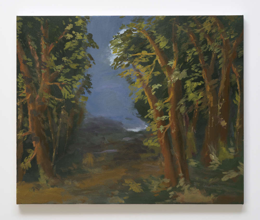 Karen Kilimnik, the edge of the forest, evening, 2012. Water soluble oil color on canvas 51 x 61 cm / 20 x 24 inches