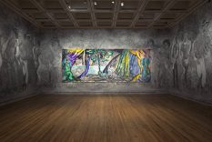 From GalleriesNow.net - Chris Ofili: Weaving Magic @The National Gallery, London