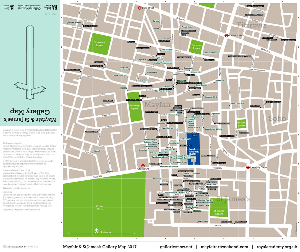GalleriesNow Map