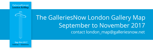 The GalleriesNow London Gallery Map Sept 2017 Applications Open