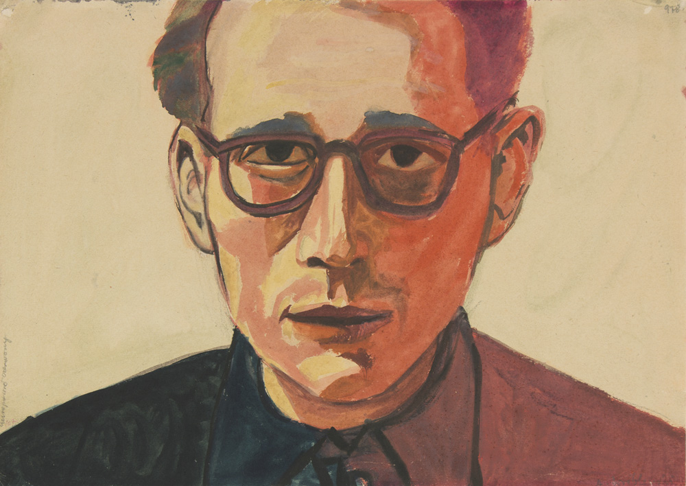 picture of the painting Self Portrait in Red by Andrzej Wróblewski