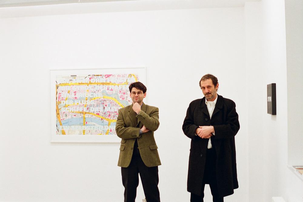 photo of Victor and artist Rémy Zaugg