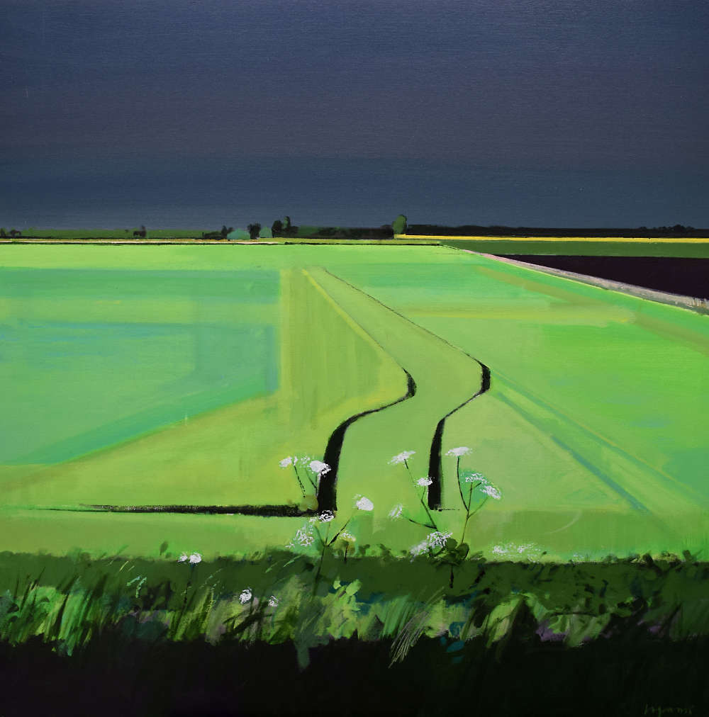 Fred Ingrams, May Tramlines, Acrylic on canvas, 122 x 122 cm