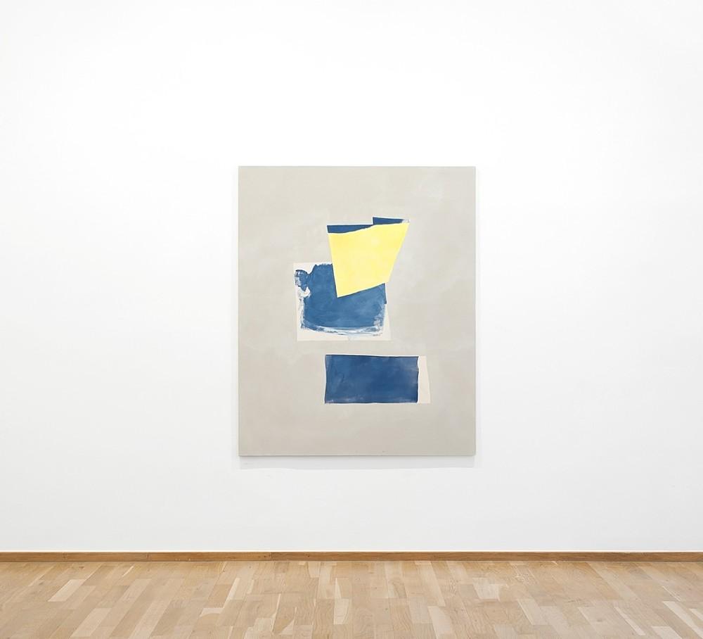 Peter Joseph, Blues and yellow 2018 acrylic on cotton canvas 137,5 x 112 cm