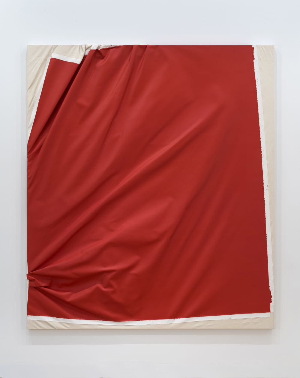 Steven Parrino, For Pierre Huber, 1990. Acrylic on canvas 96 x 84 inches 244 x 213.3 cm. Signed and dated S. Parrino 1990 (on the stretcher)