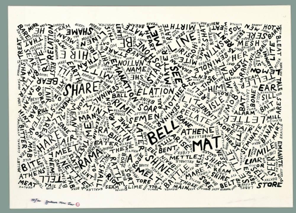 A Vocabulary for Sharon Belle Mattlin