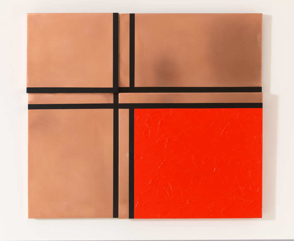 Four Rectangles with Red and Black Lines