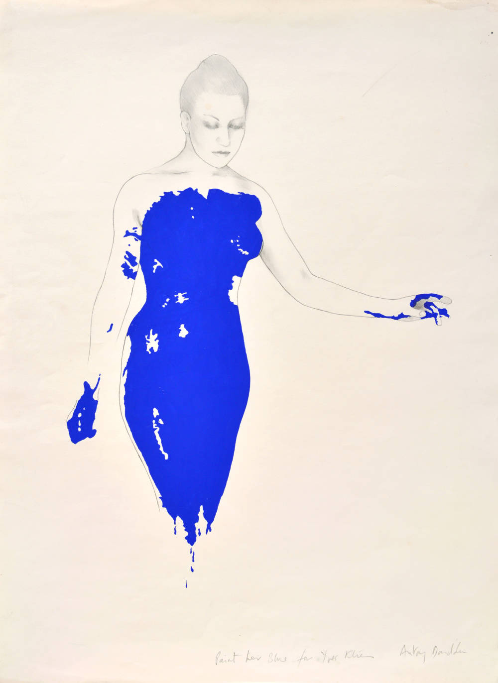 Paint her blue for Yves Klein