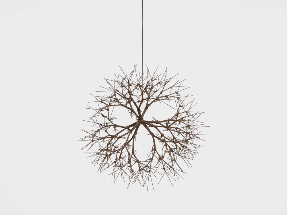 Untitled (S.371, Hanging, Tied-Wire, Closed-Center, Multi-Branched Form Based on Nature)