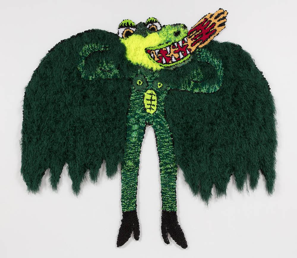 Like a dragon unfurled its wings