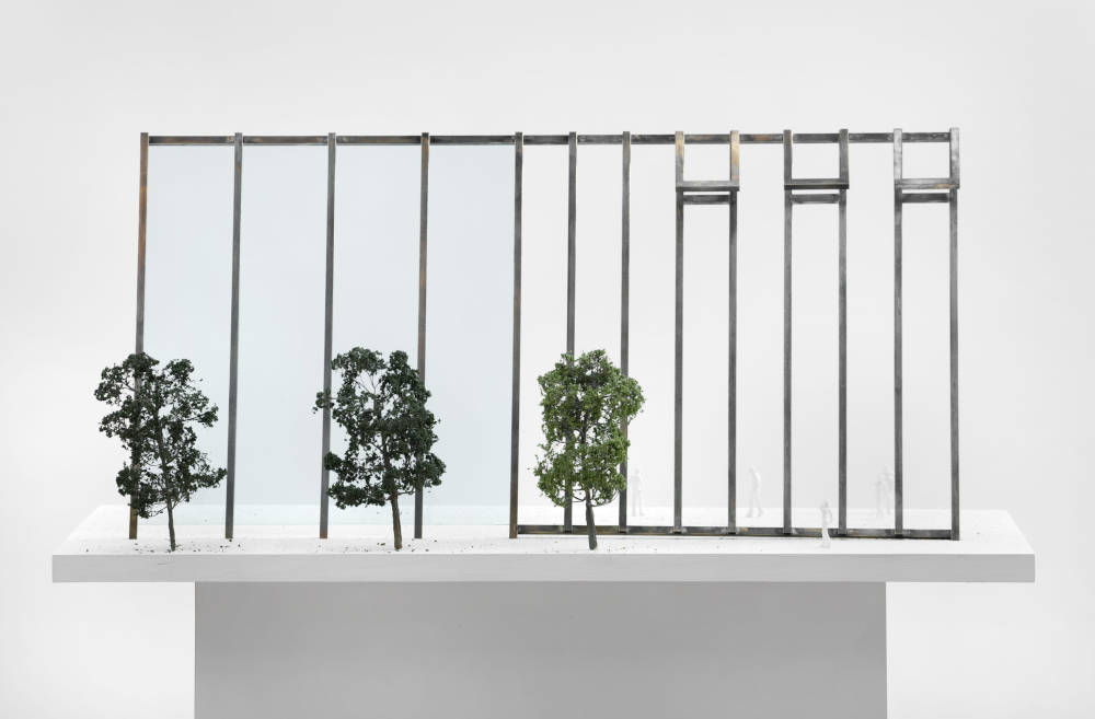 Atelierfenster, 1999. Project for Almere, on the occasion of 'Eingeladen / Uitgenodigd' at the Almeers Centrum Hedendaagse Kunst, De Paviljoens, Almere, unrealized