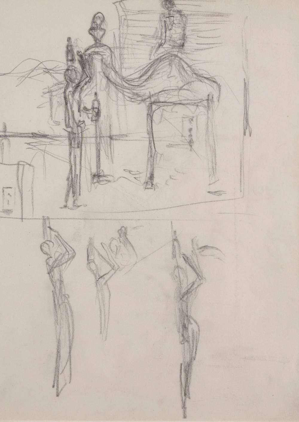 Etude pour le tableau 'Banlieue de la ville paranoiaque-critique'