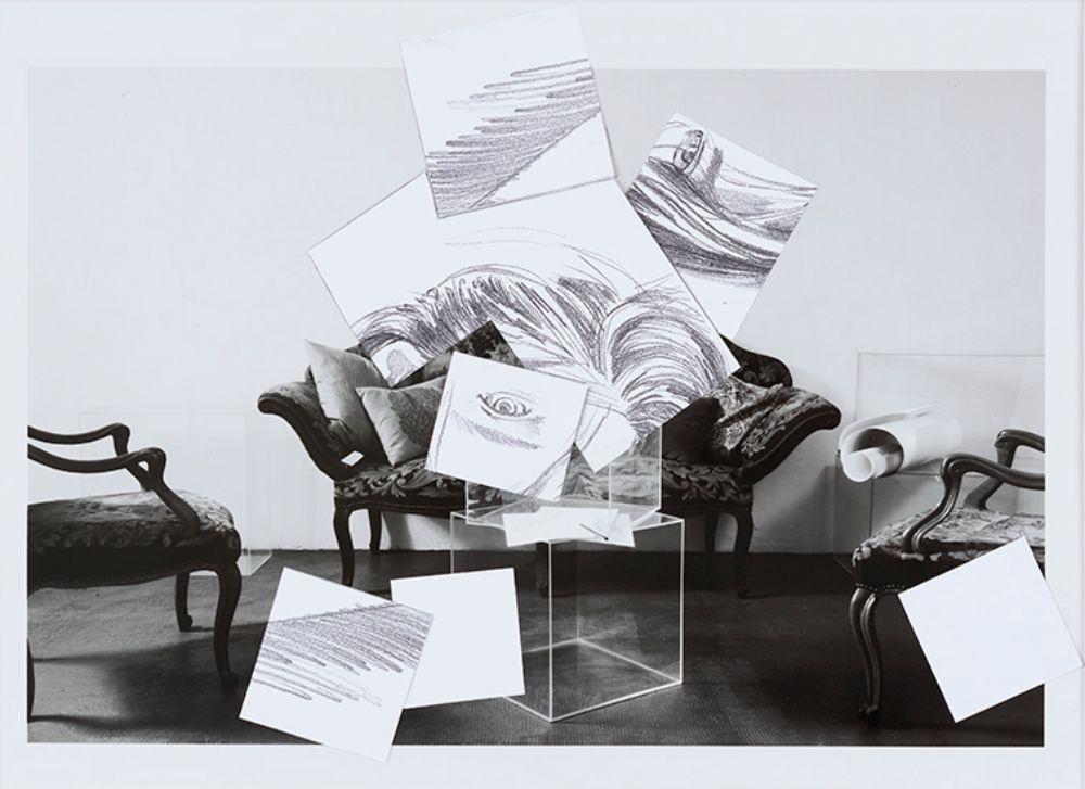 "Studio per ""Sala d'attesa"" (Matita su carta)"