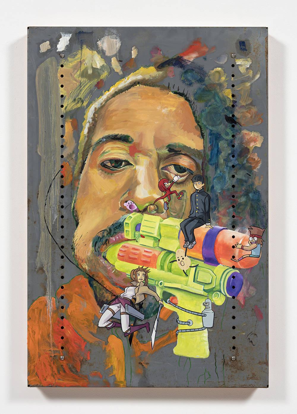 Untitled Self-Portrait (sasha, knuckles shigeo, kirby, samus, ko, idaho and bender)