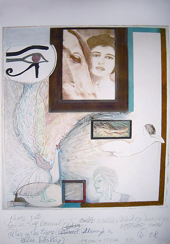 Altar of the Egos (Through a Glass Darkly) Drawing