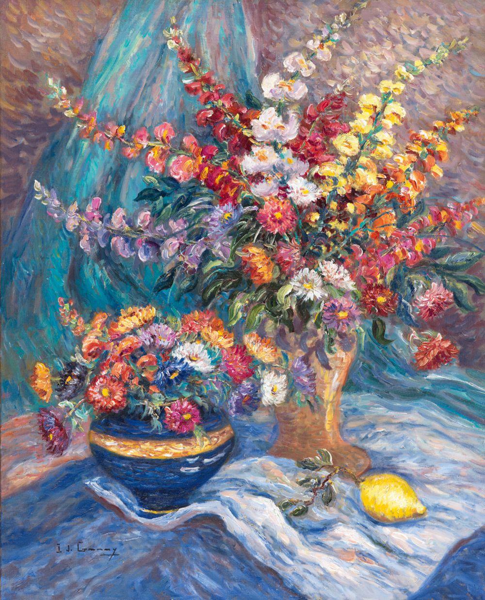 Composition au Citron et Vase de Sèvres