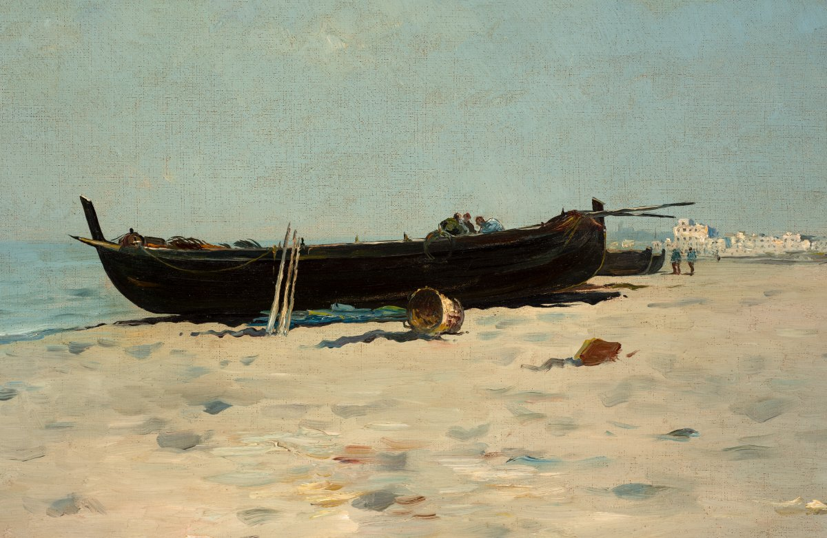 Boats on the sand