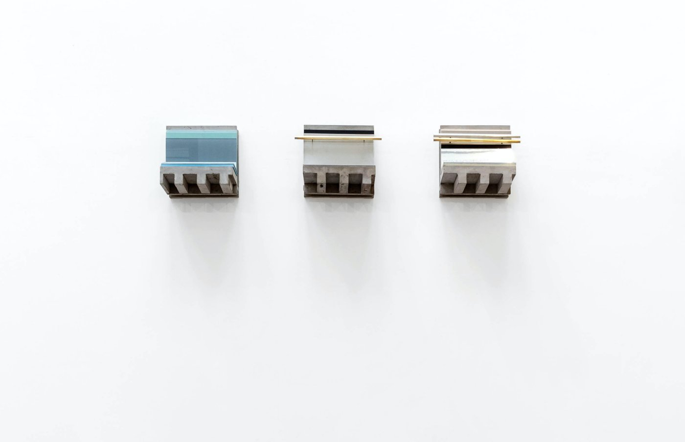 Lateral cuts series (3 pieces). Models of internal architectural cross-sections