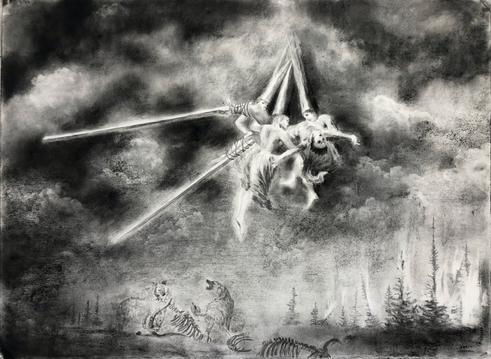 les sorcières (d'après F. Goya)
