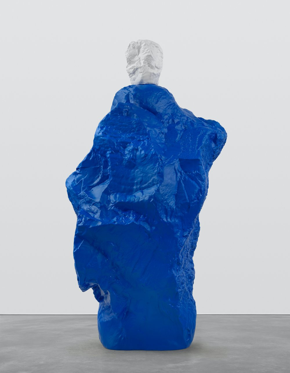 white blue monk
