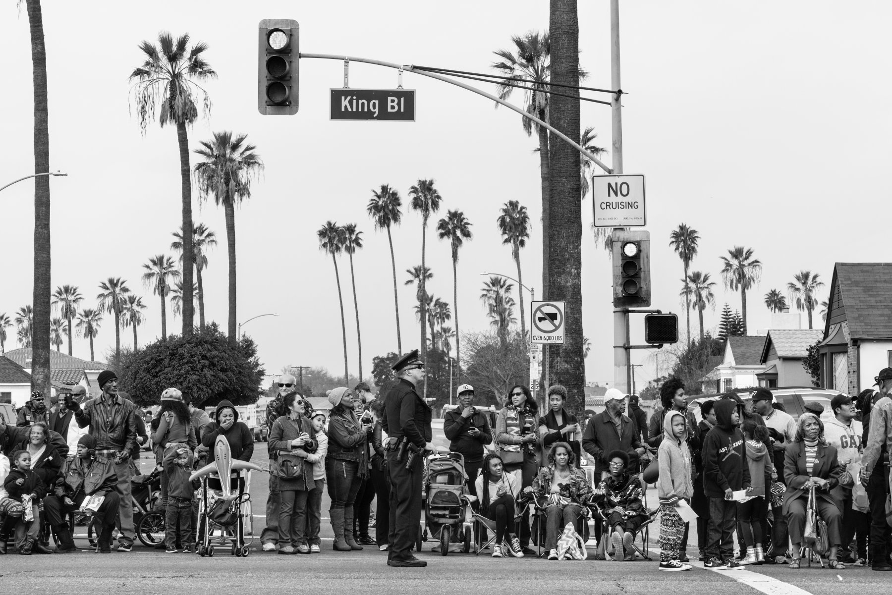Martin Luther King Day Parade, Los Angeles, California. January 18, 2016