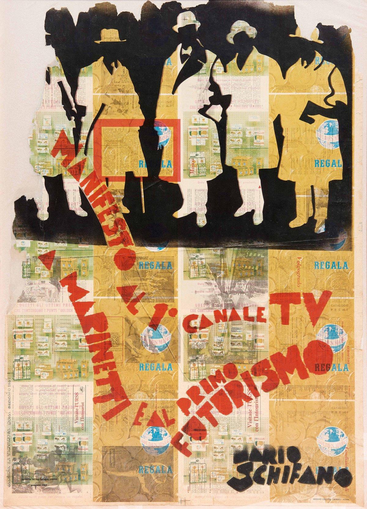 Manifesto al 1° Canale TV a Marinetti e al Primo Futurismo