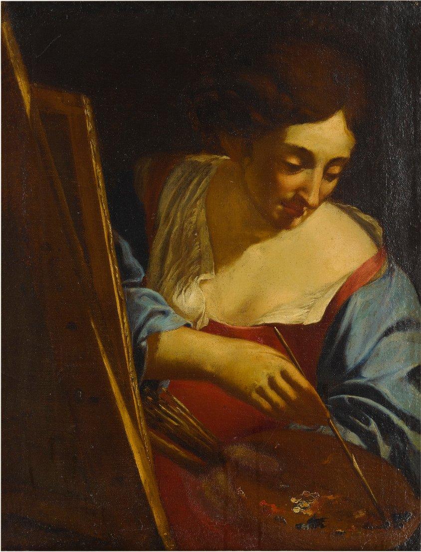"Self-Portrait, ""Woman Artist Painting"""
