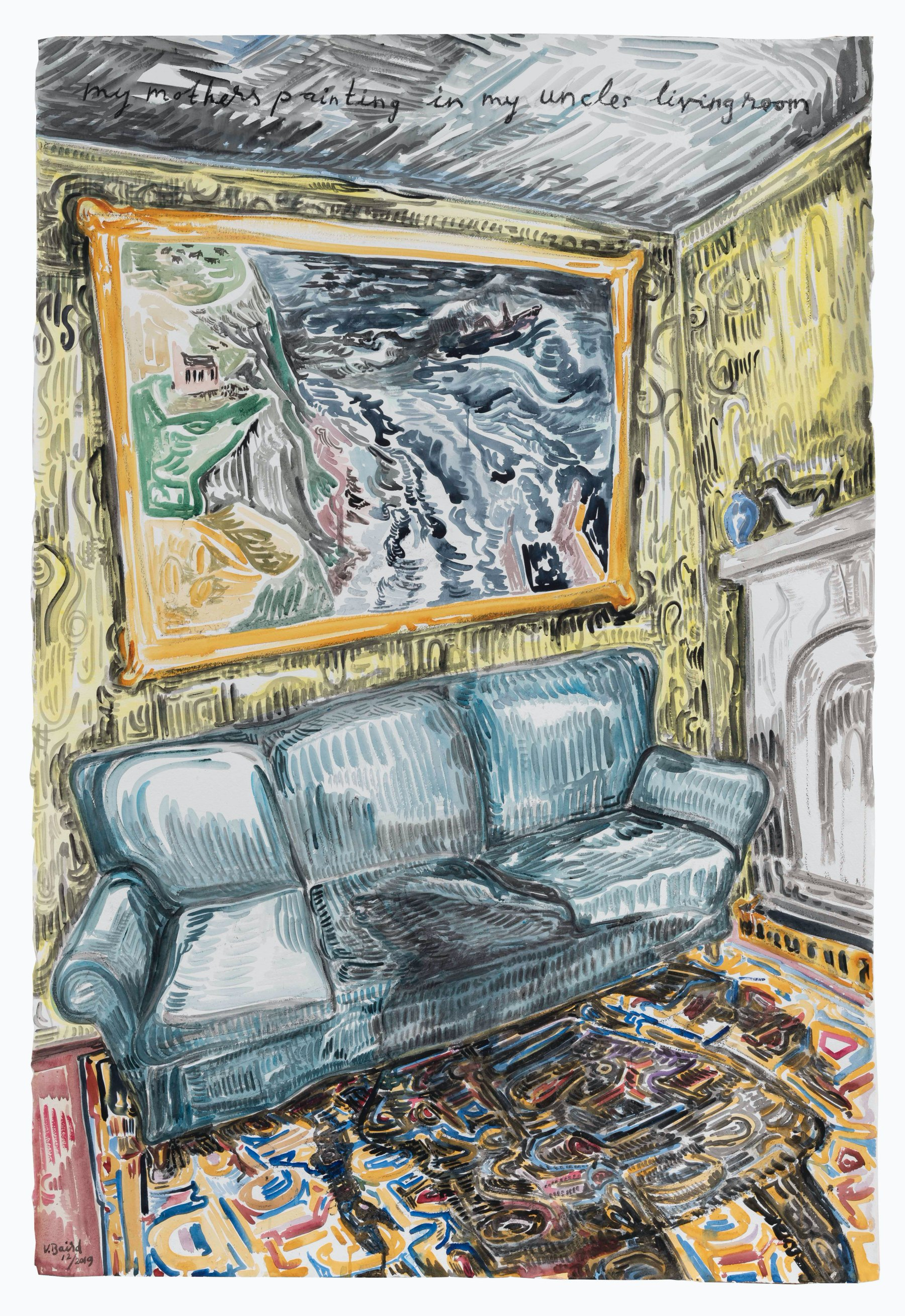 Vanessa Baird_DSC6898_Mother_s_painting_in_uncle_s_living_room