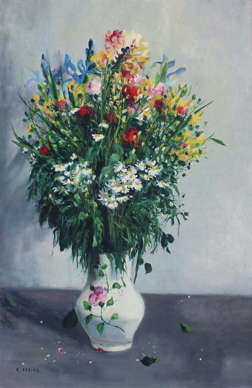 Bouquet aux Marguerites et Iris
