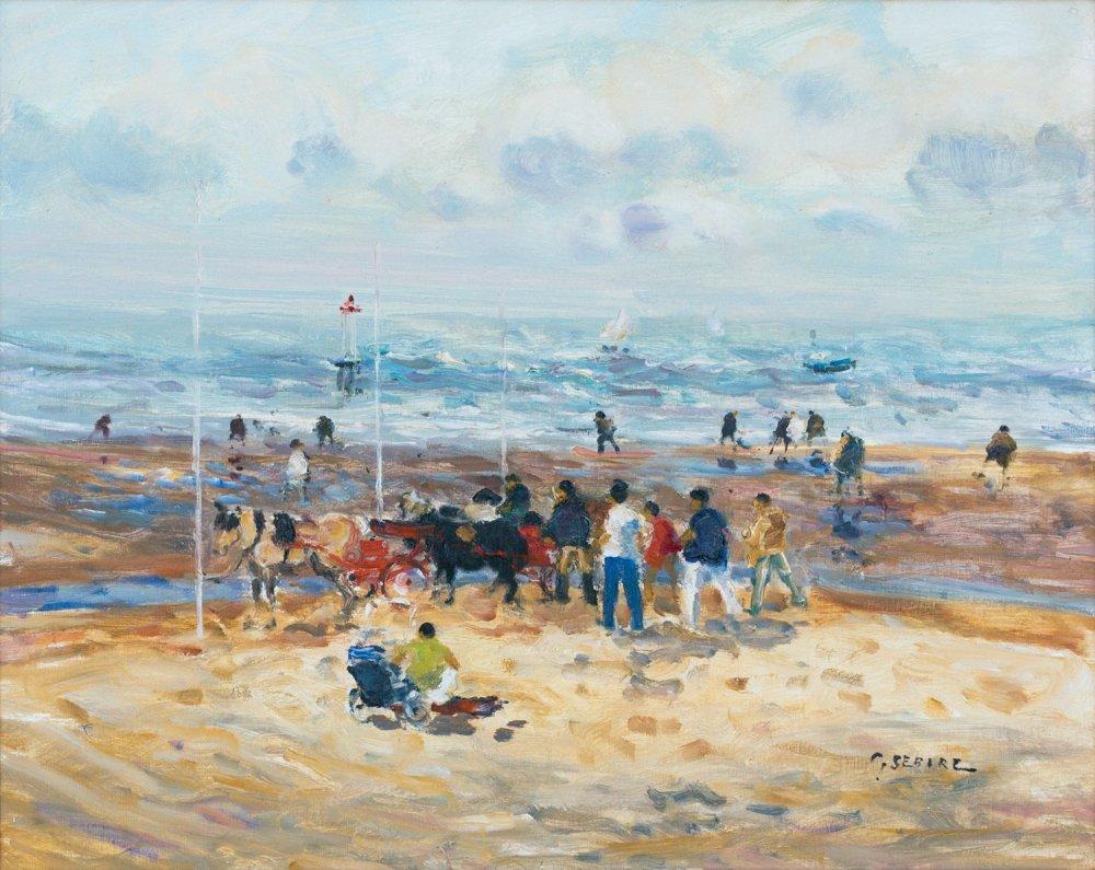 Les petits chevaux sur la plage