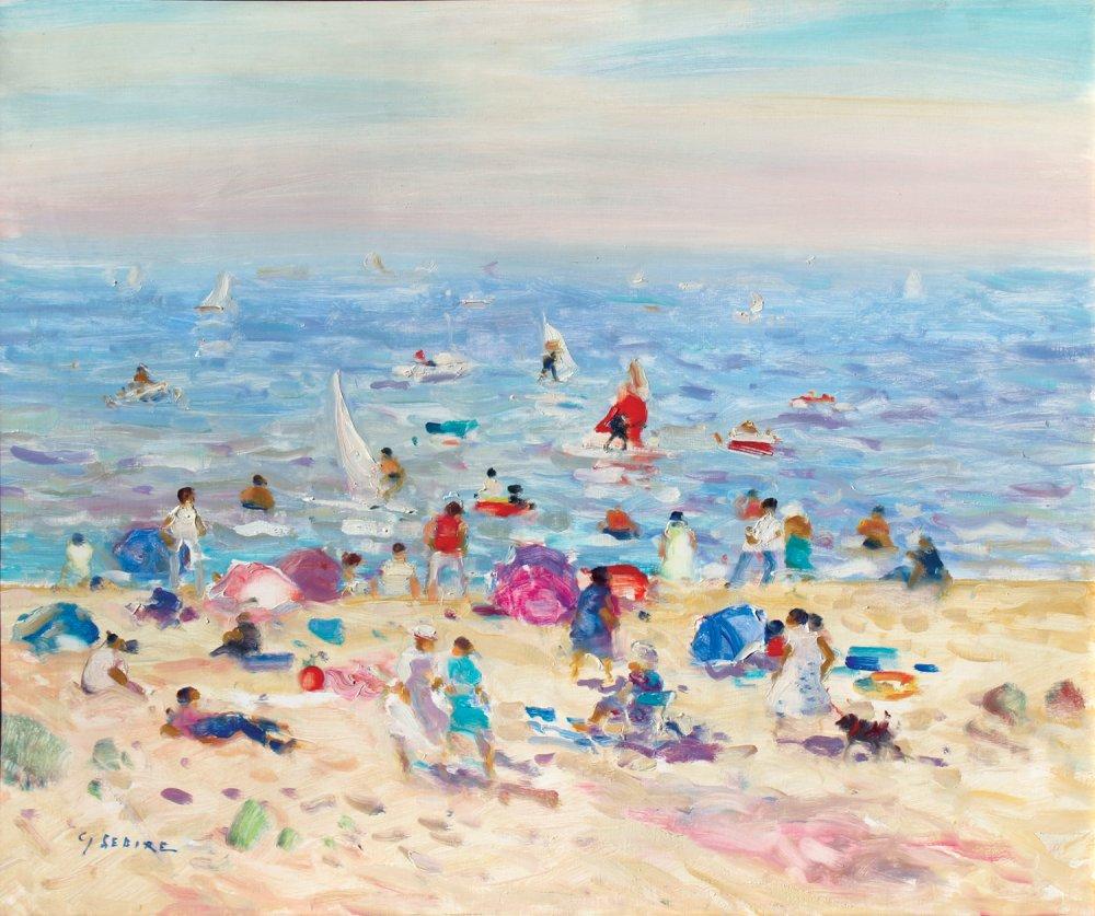 Bord de plage en Normandie