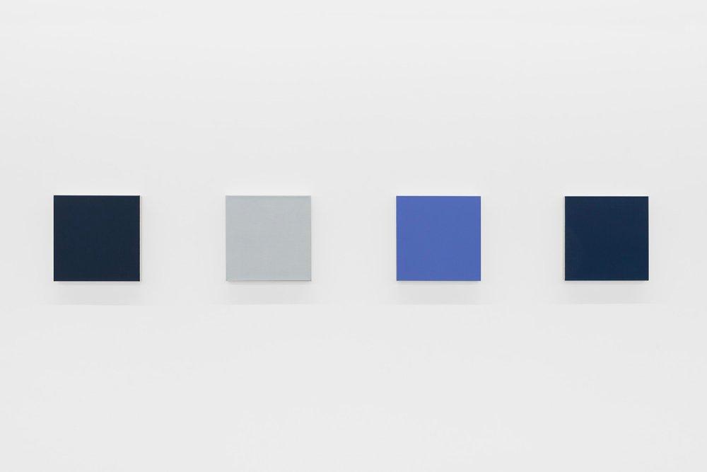 Shade Painting 14: Violet Grey; Silver; Scheveningen Blue; Indigo