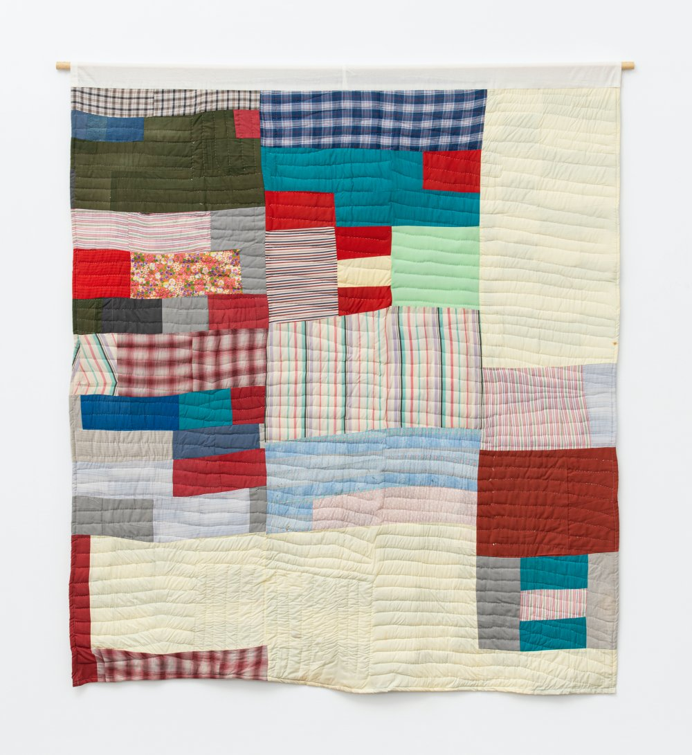 Two-sided quilt: Blocks and 'One Patch' - stacked squares and rectangles variation