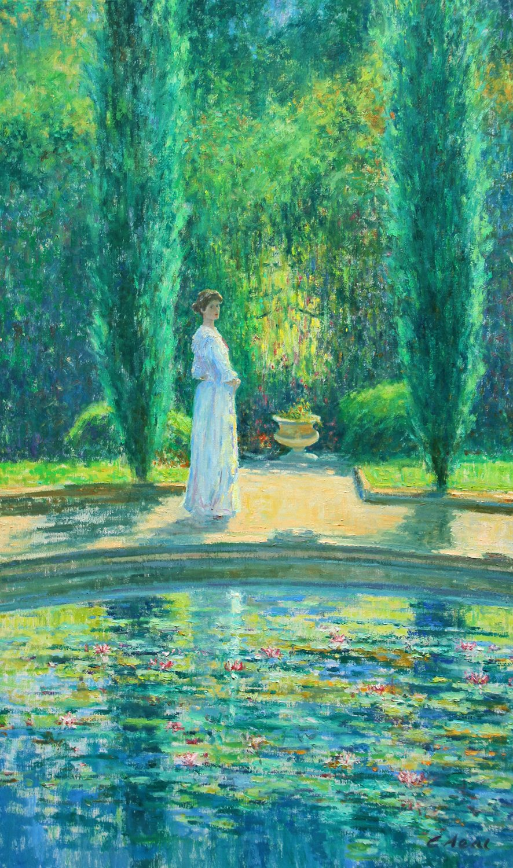 Reflection - the Statue Garden, Violet, 8th Duchess of Rutland