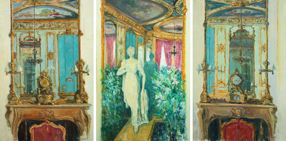 Elizabeth Salon Triptych: Time and Infinity