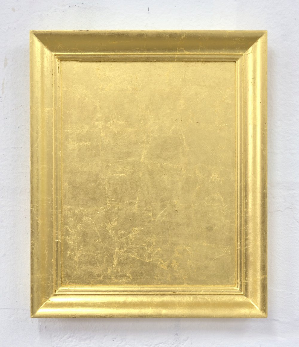Found frame gold leaf covered