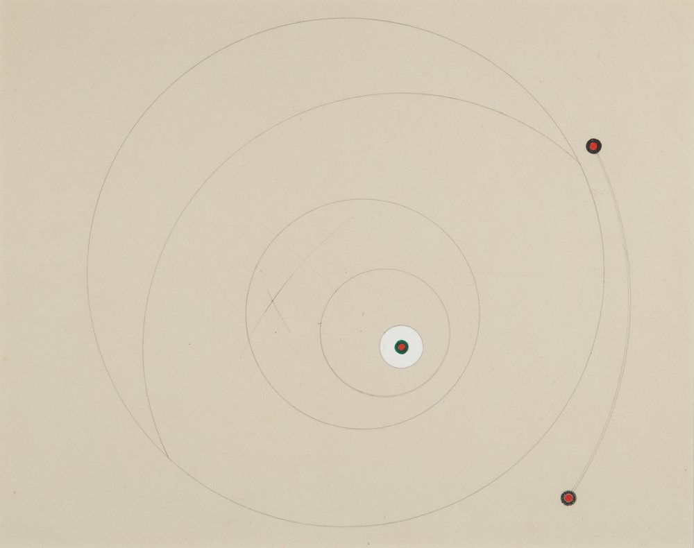 Untitled (Red, green and white circles)