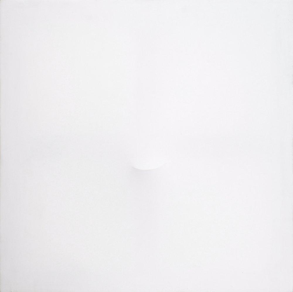 Un ovale bianco