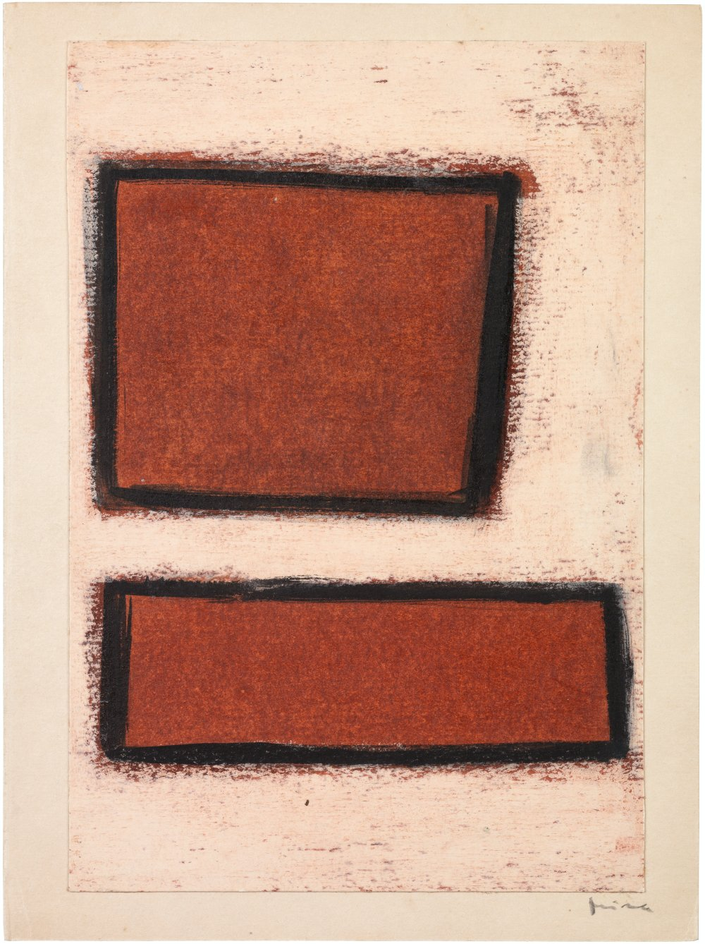 Untitled (Two red forms)