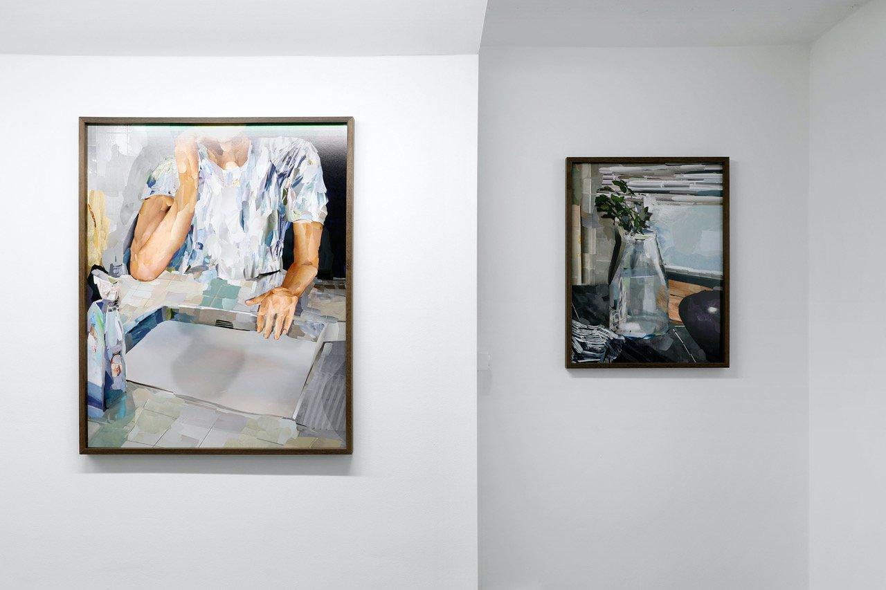 Alina Frieske/Aurélien Martin, vue d'exposition, 2021, Galerie Fabienne Levy