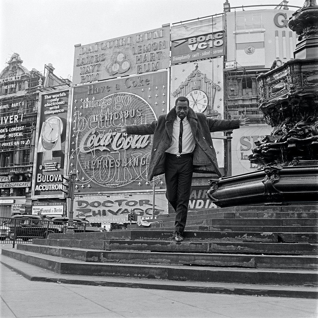 Mike Eghan at Piccadilly Circus, London