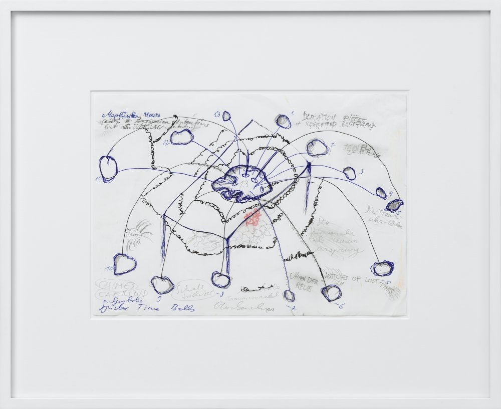 Drawing for 'The 13 Hour Cymbal Spiderclock'